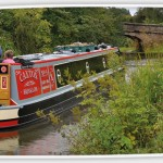 Canal Barge Entering Disley