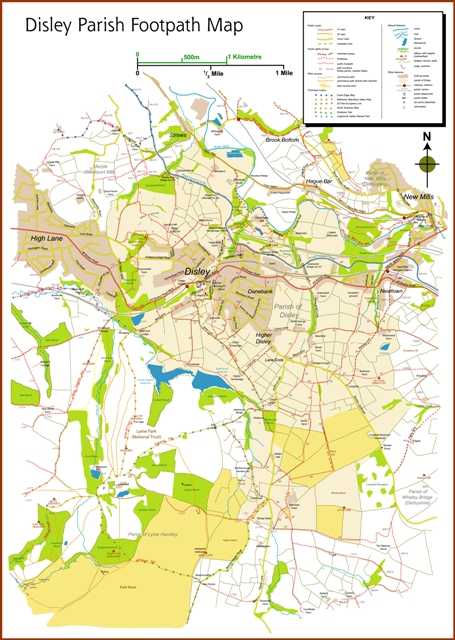 Disley Footpath Map Web