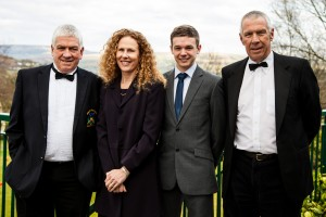Mr President - David Ward, Lady Captain - Lindsay Pulley, Junior Captain, David Potter  and.Mr Captain - Neil O'Brien,