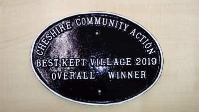Best Kept Village 2019 plaque