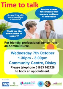 Time to Talk Dementia session Disley Community Centre