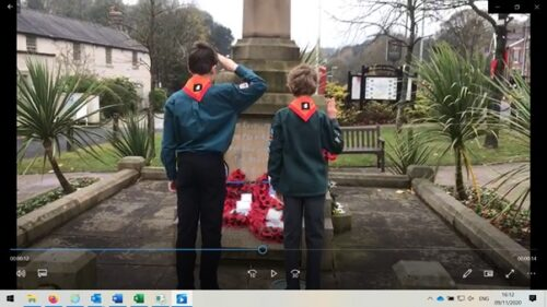 1st Disley Scouts wreath laying on behalf of our Beavers, Cubs, Scouts and Explorers