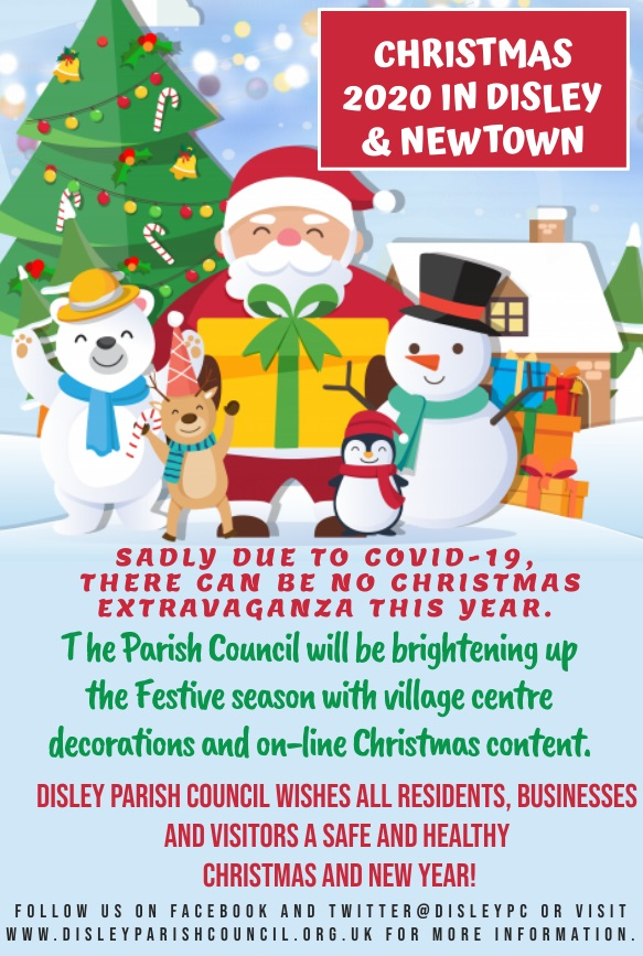 Disley Parish Council Christmas 2020 poster