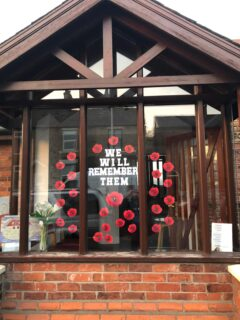 Disley Baptist Church window display