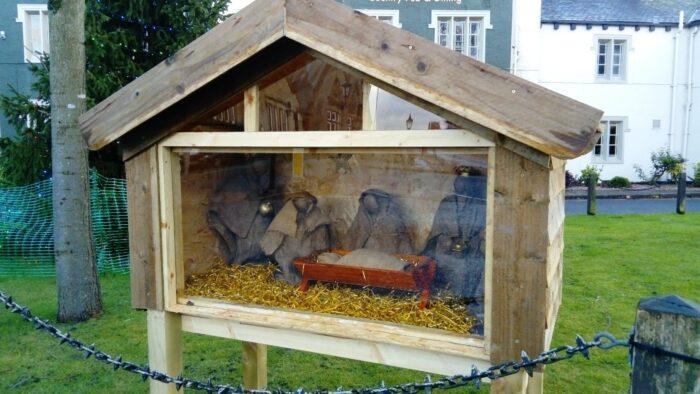 Ram Green Nativity Scene
